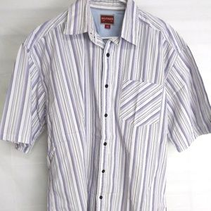 Tommy Hilfiger Mens Large S/S Striped Shirt